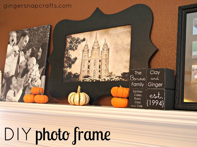 DIY photo frame with your Silhouette Cameo