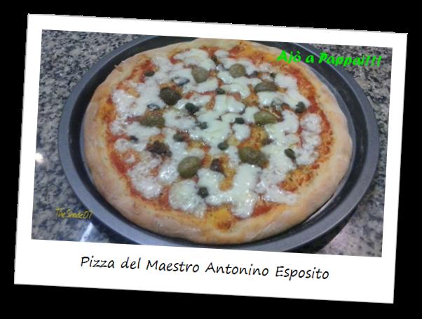 Fotografia del piatto la pizza del Maestro Antonino Esposito