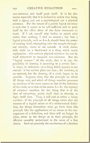 Bergson. Creative Evolution. 1911 creativeevolutio00berguof.test.t_Page_306