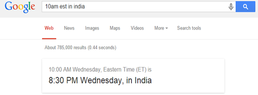 Google Time Zone conversion