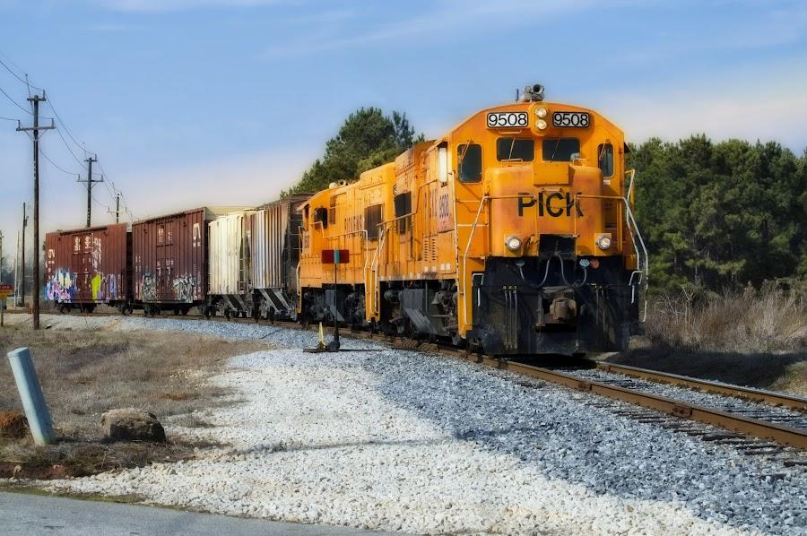 Pickens Shortline RR by Steven Faucette - Transportation Trains ( railroad, train, pickens, shortline, industry, south carolina )