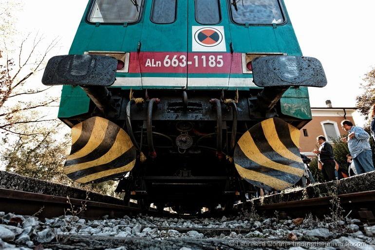 Train from below