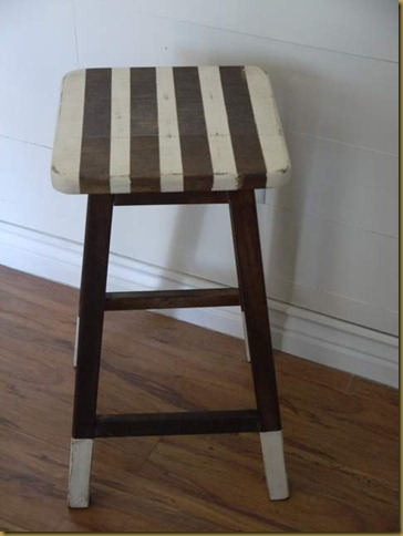 striped stool