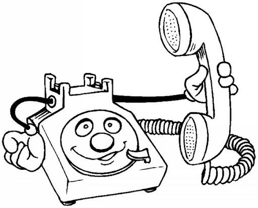 Telefonos Para Colorear Animados