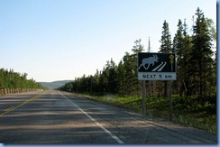 7840 Ontario Trans-Canada Hwy 17 moose crossing sign