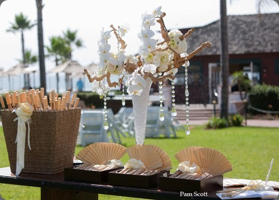 Hotel-Del-beach-weddings-escort-table-orchids2 karen tran