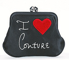 Lulu Guinness I love couture mini frame purse