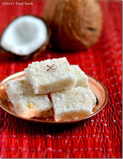 Thengai Burfi Recipe South Indian Coconut Burfi Easy Diwali Sweets Chitra S Food Book