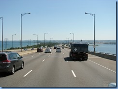 7625 QEW - Burlington Skyway - Hamilton Harbour to right and Lake Ontario to left