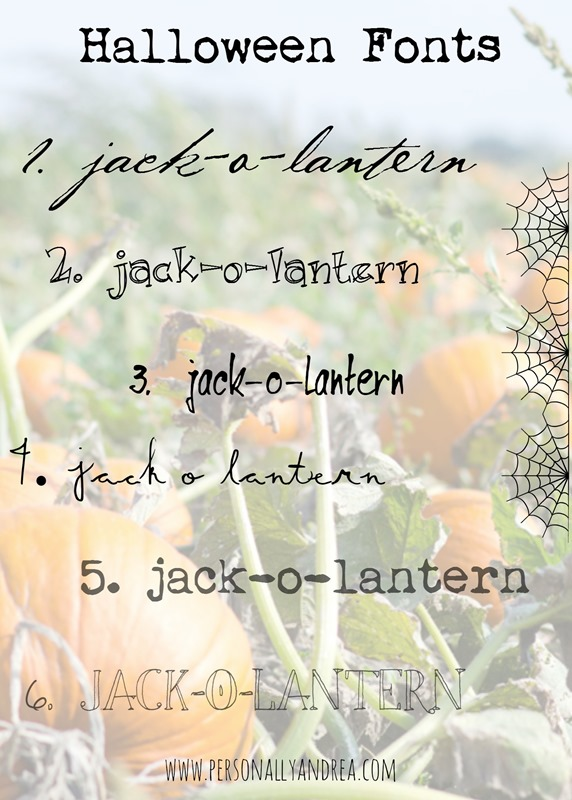 Favorite Halloween Fonts | personallyandrea.com