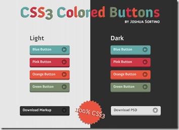 Botones CSS3 con efecto pulsado y hover.