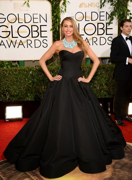 Sofia Vergara attends the 71st Annual Golden Globe Awards