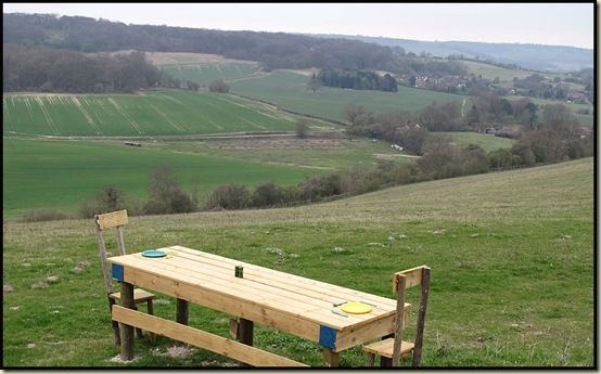 North Downs picnic bench