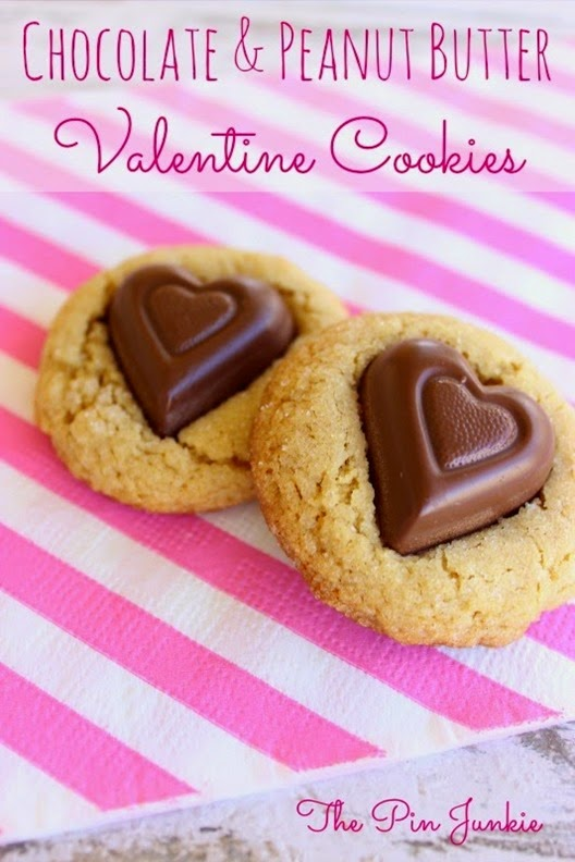 Valentine cookies chocolate peanut butter
