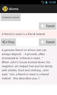English Idioms Dictionary - screenshot thumbnail