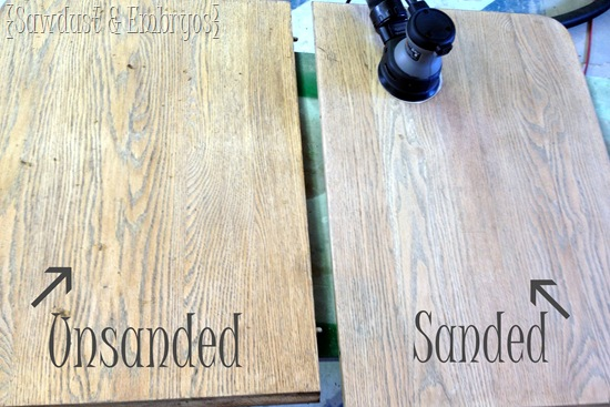 Stripping and Sanding Furniture 101 {Sawdust and Embryos}