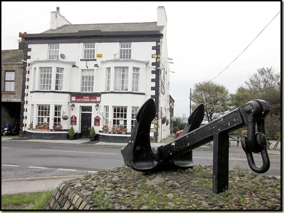 The anchor, outside the Victoria Inn