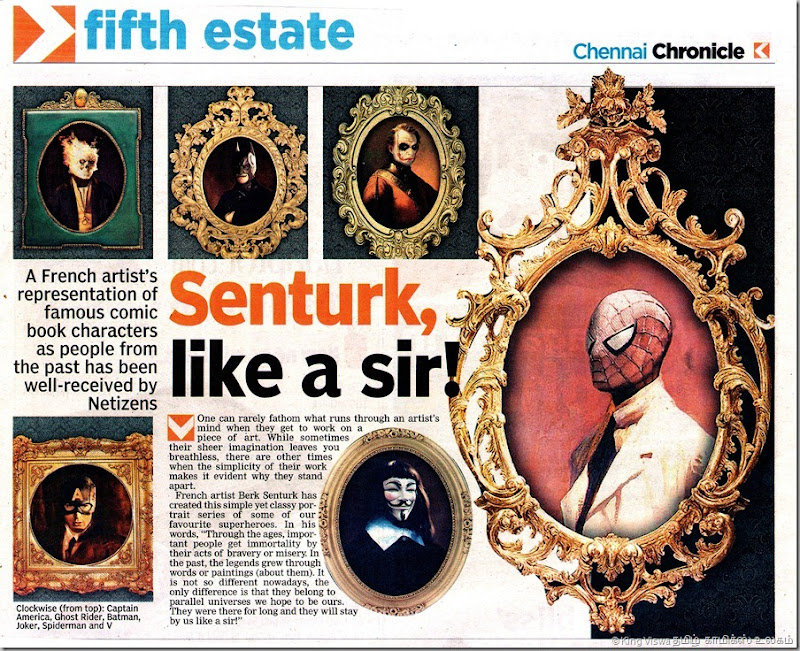 Deccan Chronicle Chennai Edition Chennai Chronicle Dated 14072012 Page No 22 Portaits of Senturk Article