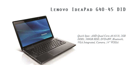 Lenovo IdeaPad G40-45 DID