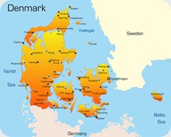 Denmark vector map1