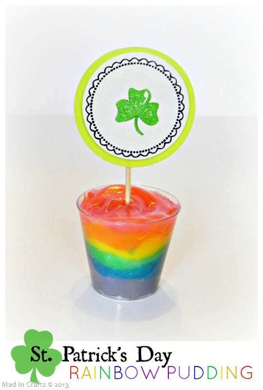St Patrick's Day Rainbow Pudding Tutorial