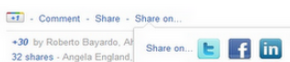 Google+ on Facebook