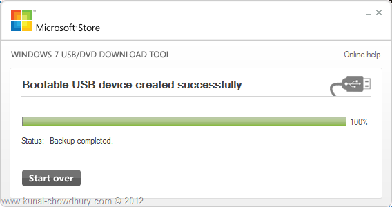 Create Bootable Windows 8 USB - Final Step - Completed