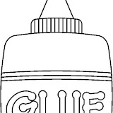 glue bottle coloring pages | Glue Stick Coloring Page Coloring Pages