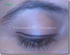 step 2- brown smokey eyes with winged liner