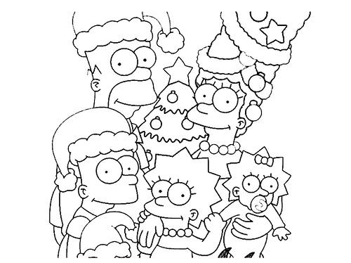 Colorea Los Simpson En Navidad