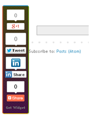 Social sharing buttons preview