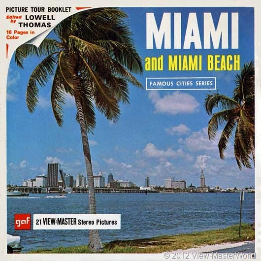 View-Master Miami and Miami Beach (A963), Packet Cover