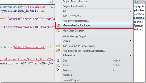 Manage Nuget Pakcage with multiple project