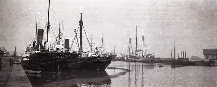 Vapor ARECHONDO en Burdeos. Año 1908.tif