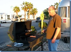 7004 Texas, South Padre Island - KOA Kampground - Bill BBQing