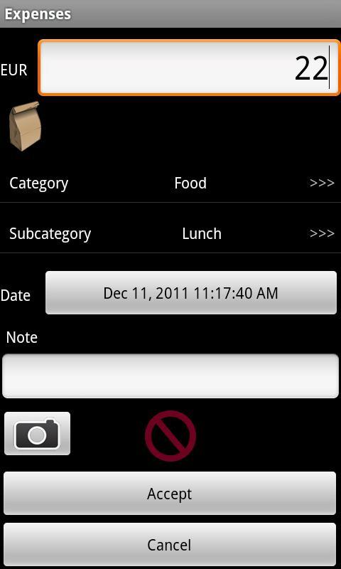 DMF Expenses (Free)- screenshot