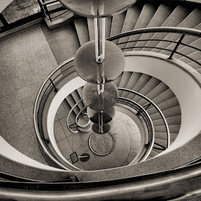 Spiral down by Dean Thorpe - Black & White Buildings & Architecture (  )