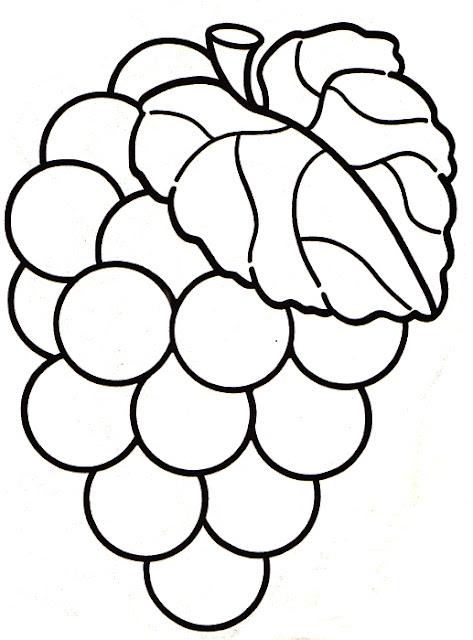 Colorear Dibujos De Racimos De Uva