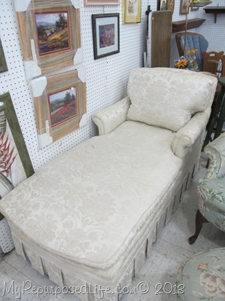 thrift store chaise