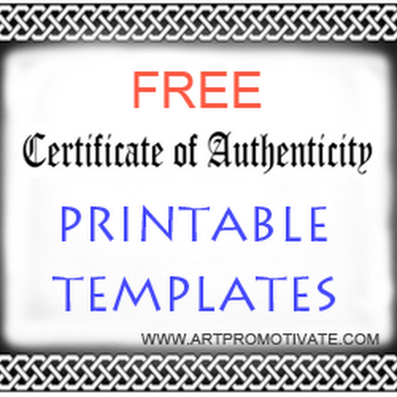 Free Printable Certificate of Authentication Templates