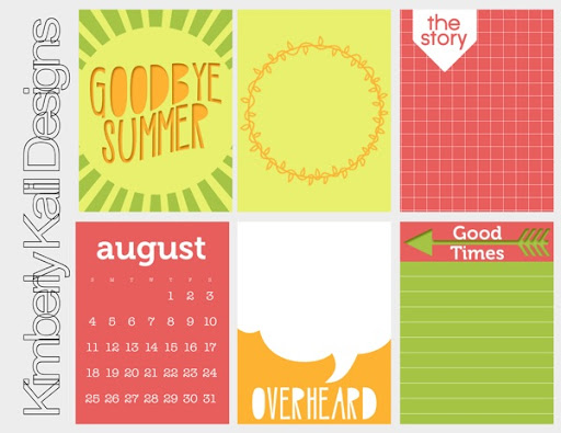 picture about Free Printable Journaling Cards named KK - No cost Printable Goodbye summertime journaling playing cards