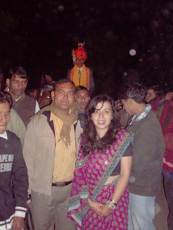 Nunta India: Desiree Hallaseh in sari