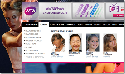 WTA Featured Players
