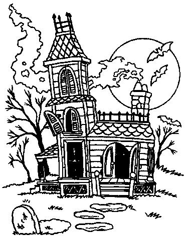 Dibujos De Casas De Miedo