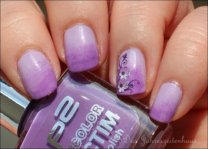 Flieder Blume Nageldesign 4