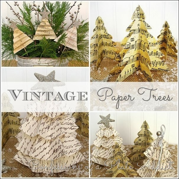 CONFESSIONS OF A PLATE ADDICT Vintage Paper Trees
