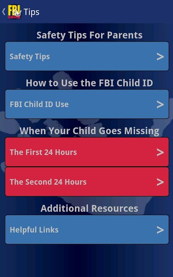 FBI Child ID - screenshot