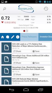 Resverlogix Corp. IR - screenshot thumbnail