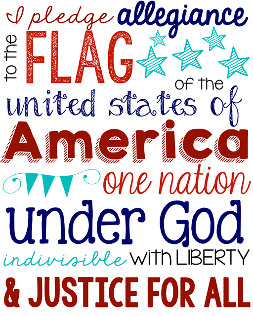 Pledge of Allegiance Printable at GingerSnapCrafts.com #usa #printable #patriotic