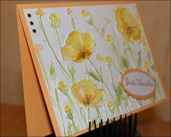 Poppies embossing